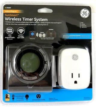 26684  GE Wireless Indoor Single-Grounded Digital Timer Outlet,range up to 100 F