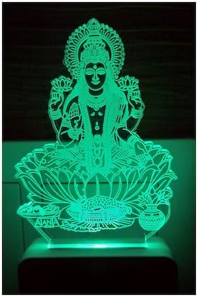 2Mech Laxmiji Acrylic Colour Changing 3D Illusion LED Night Lamp (Multicolour)