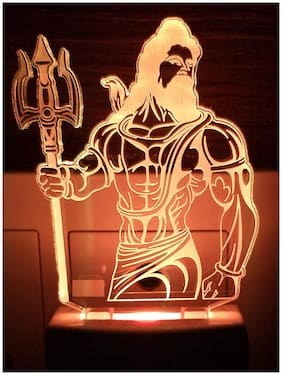 2Mech Lord Shiva Acrylic Colour Changing 3D Illusion LED Night Lamp (Multicolour)