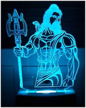 2Mech Lord Sankarji Acrylic Colour Changing 3D Illusion LED Night Lamp (Multicolour)