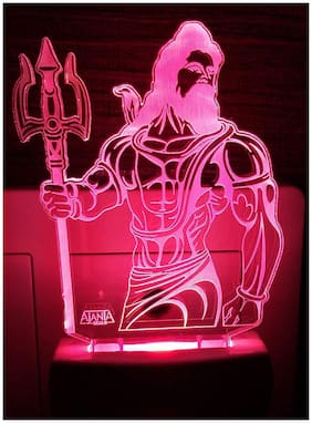 2Mech Lord Shiva 2096 Acrylic Colour Changing 3D Illusion LED Night Lamp (Multicolour)