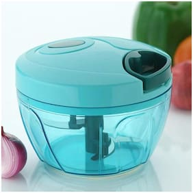 2Mech Manual Food Chopper;Compact & Powerful Hand Chopper(Blue)
