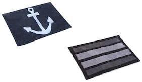 2pcs soft cotton bath mat (full size)