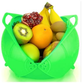 3 in 1 Basket for Fruits, Vegetable Rice Washing, Water Strainer. Made from high Quality Plastic