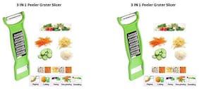 3 in 1 peeler easy to peeling grating & slicing. Vegetable & Fruit Chopper (1 set)