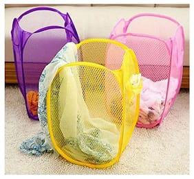 Imported Products Nylon Assorted Laundry Basket ( Set Of 3 )