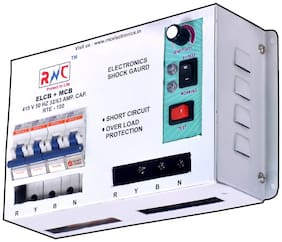 3 Phase ELCB +MCB, 3-50 mAmp, 63 Amp