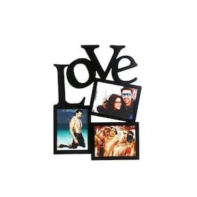 Safal Wood Black Collage picture frame ( Set of 1 )