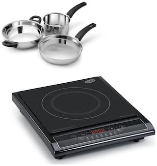 Glen3071  Induction Cooker + Alda SS gift set - 3 pcs ( COMBOS )