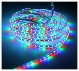 38 Metre Multicolor Waterproof 220v Rgb Led Strip Light 5050 Smd Flexible Tape Rope Party Garden Home Decoration Diwali Christmas New Year Decoation