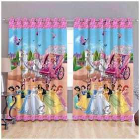 3D Digital Print Curtains barbie world 4x5 ft ; 3D Digital Print Curtains barbie world 4x7 ft ; 3D Digital Print Curtains barbie world 4x9 ft