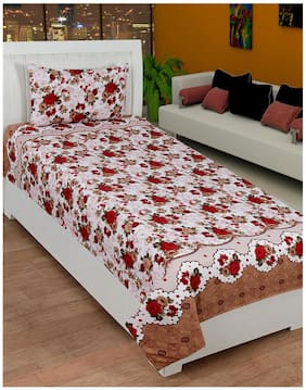 3D Print Designer Single Bed Sheet with 1 Pillow Cover