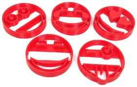 3D Print Shoppy  Set of 5 Smiley Emotica Cookie Cutter Shapes for Kids bakeware Cookie Cutter Kids Cookie Cutter