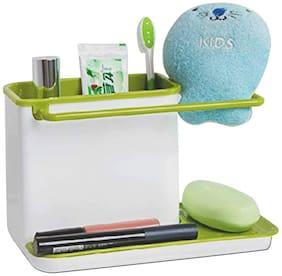 3-in-1 Kitchen Sink Organizer for Dishwasher Liquid, Brush, Cloth, Soap, Sponge, Self Draining (Assorted Color)