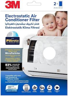 3M Electrostatic Air Purifying Filter for Split ACs (White)