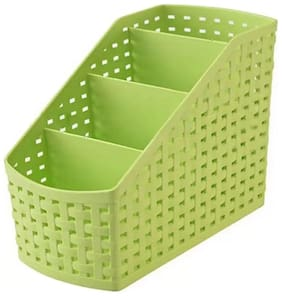 4 Compartments High Quality Plastic Kitchen basket, Bathroom, Office (1Pc) Multicolor