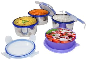 G-King Assorted Lunch box ( Set of 1 , 300 ml )