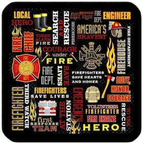 4 DRINK COASTERS - FIREFIGHTER #S13 Fireman Fire Dept First Responder Hero Brave
