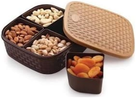 4 Section Multipurpose Dry Fruit chocolates Mouth freshner sweet box set.dry