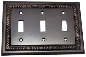 """4"""" Toggle Rope Brass Switch Plate"""