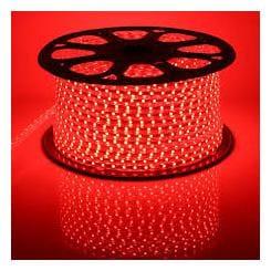 40  Meter   RED   Color 220 V 240 V SMD 5050 Led Strip Flexible Light Power Plug 60leds/M Waterproof Led Strips