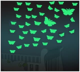 40 nos. of Night Glowing Radium Magic Butterflies for Rooms