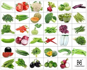 40+ Variety Of Vegetable Seeds A complete Pack For Terrace And Kitchen Gardening Vegetable Seeds