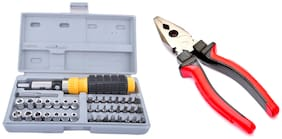 41-In-1 Foldable Multipurpose Magnetic Tool Kit And Screwdriver Set with 8-inch Combination Plier