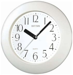 Rhythm Plastic Analog Wall clock ( Set of 1 )
