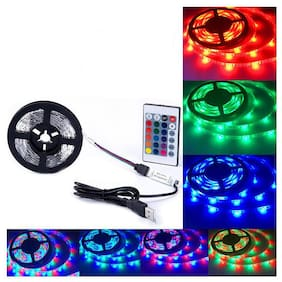 4M SMD RGB LED Strip Light Waterproof TV Backlilghting Lamp +  Remote DC12V - 5M