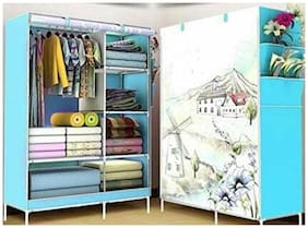 4square Wardrobe Organizer, Storage Rack for Kids and Women, Clothes Cabinet, Bedroom Organizer colour & pattern as image by 4s