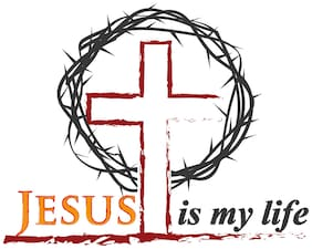 5 Ace Cross Jesus Is My Life Sticker Poster Religious Poster