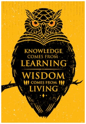 5 Ace Knowledge Comes From Learning Wall Sticker Paper Poster