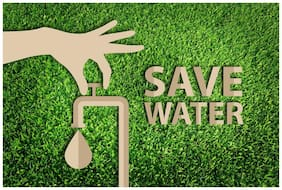 5 Ace save water Wall Sticker Poster(12x18 inch)