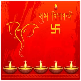 5 Ace Shubh Divali Wall Sticker Poster