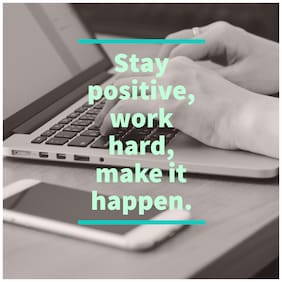 5 Ace Stay postive work Hard Wall Decor Poster