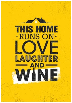 5 Ace This Home . Runs On. Love Quote Paper Poster