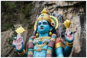 5 Ace Vishnu Dev Wall Sticker Poster