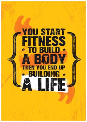 5 Ace You Start Fitness To Build Motivational,Office Quotes Inspirational Paper Poster