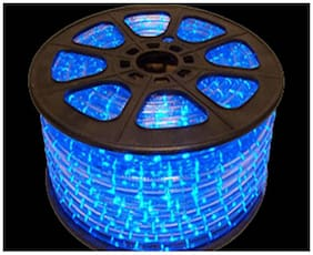 50 m Blue LED Rope Light/Rice Light with Adapter