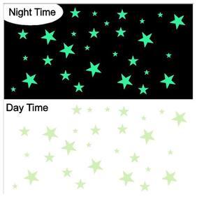 Altima Creations Paper Night Glowing Radium Magic Stars (50 Nos)