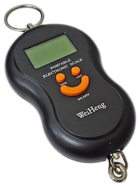 50kg Black Digital Smiley Travel Luggage Weighing Scale