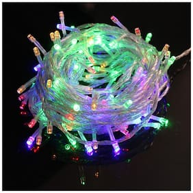 GLOWTRONIX Rice Light MultiColoured LED String Light 10 Meter Party Living Room Bedroom , Garden