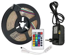 5M Waterproof RGB LED Strip DC12V SMD 150led Flexible Light+14 Keys Remote Controller RGB ( 2830 )