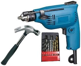 6.5mm-Rotary Drill Machine With Hammer & Drill Bits For Wall;Wood & Iron Sizes 5mm;6mm & 8mm Each