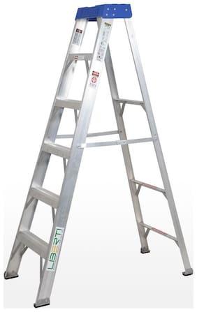 Liberti Aluminium 5 Steps Ladder ( Silver , Front Step )