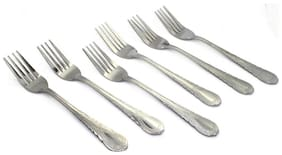 6 pc. Fork Stainless Steel Spoon Set