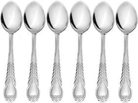 Set of 6 Pc. Stainless Steel Tea Spoons (Any Design)