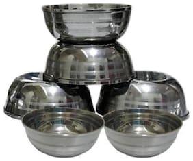 6 pcs stainless steel sabji bowls