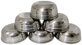 6 pcs stainless steel Daal / soup bowls